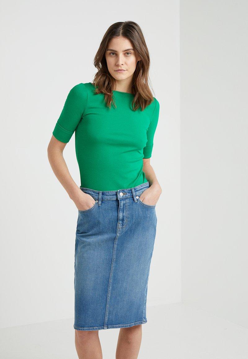 Lauren Ralph Lauren - JUDY ELBOW SLEEVE - Jednoduché triko - cambridge green