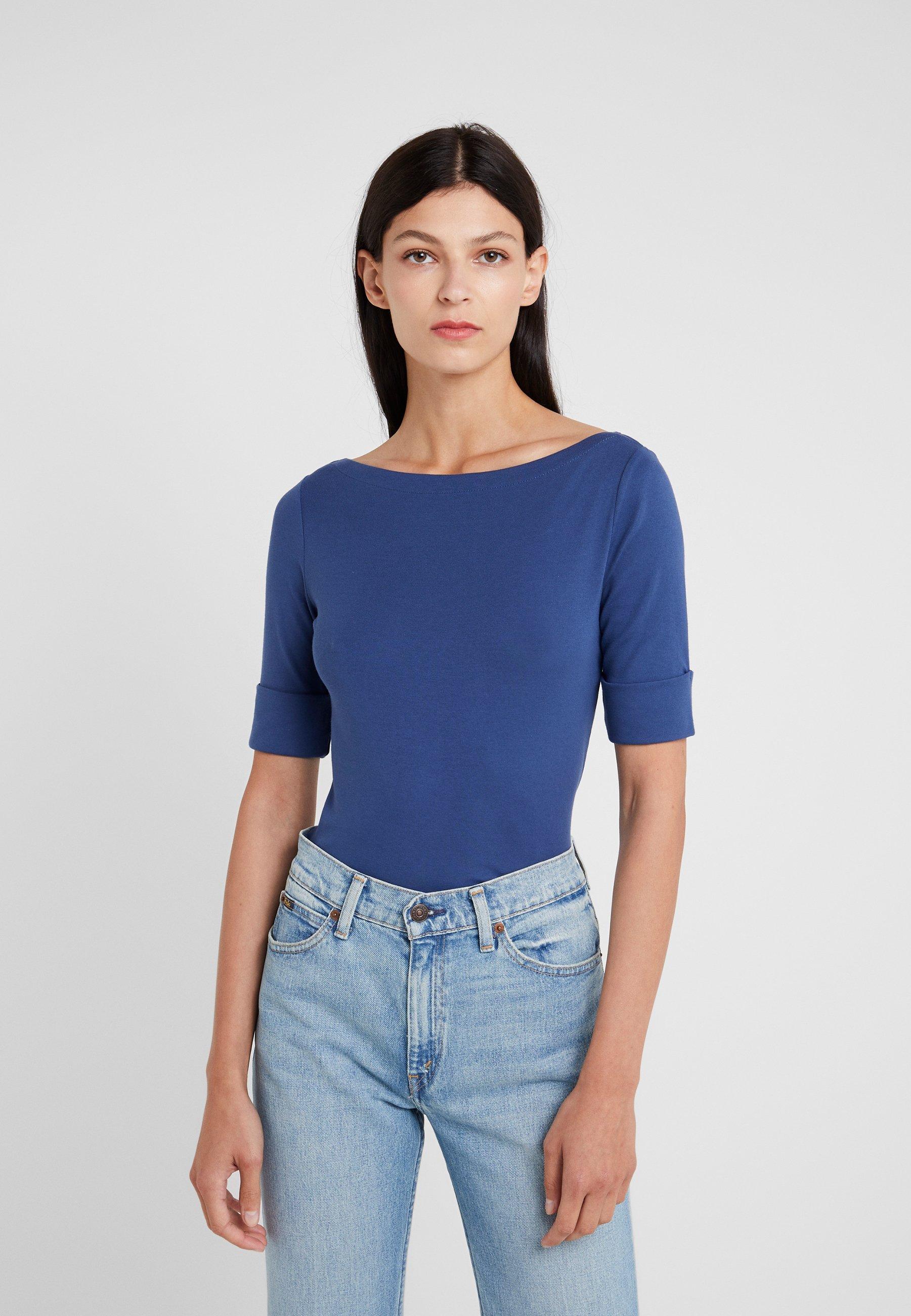 Ralph shirt Elbow Lauren Basique Pottery Blue Judy SleeveT srxhBotdCQ