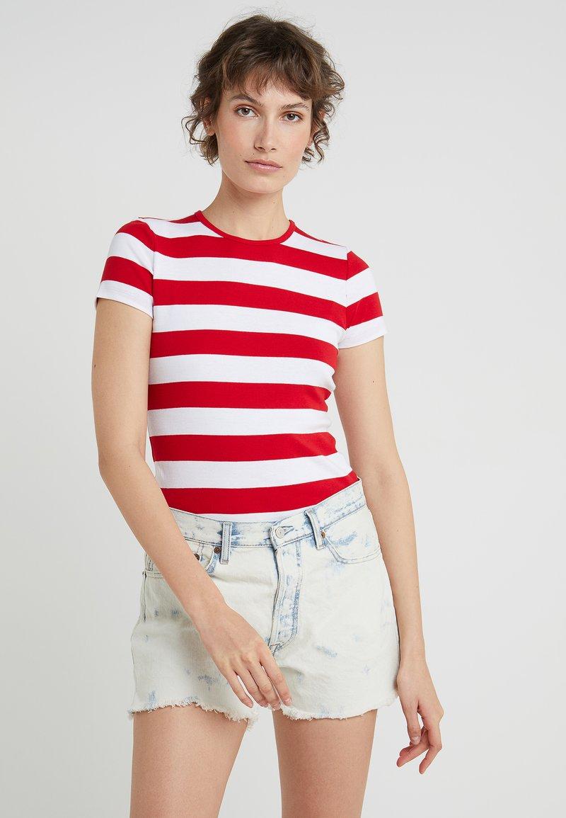 Lauren Ralph Lauren - ALLI SHORT SLEEVE - Print T-shirt - lipstick red/white