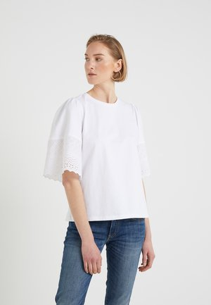 JARVINIA - T-shirt con stampa - silk white