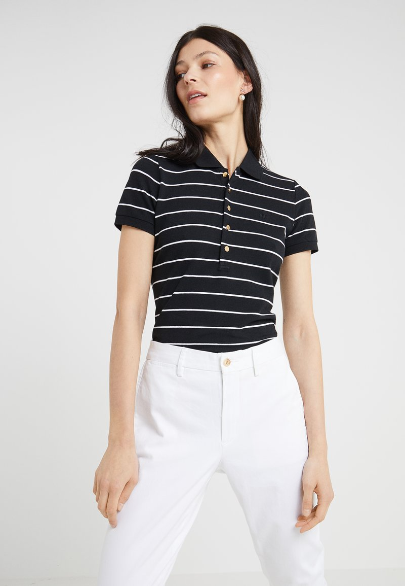 Lauren Ralph Lauren - KIEWICK - Poloshirt - black/white