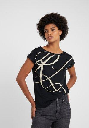 UPTOWN - T-shirt con stampa - black