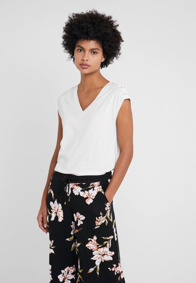 Lauren Ralph Lauren - PIMA  - T-Shirt print - mascarpone cream