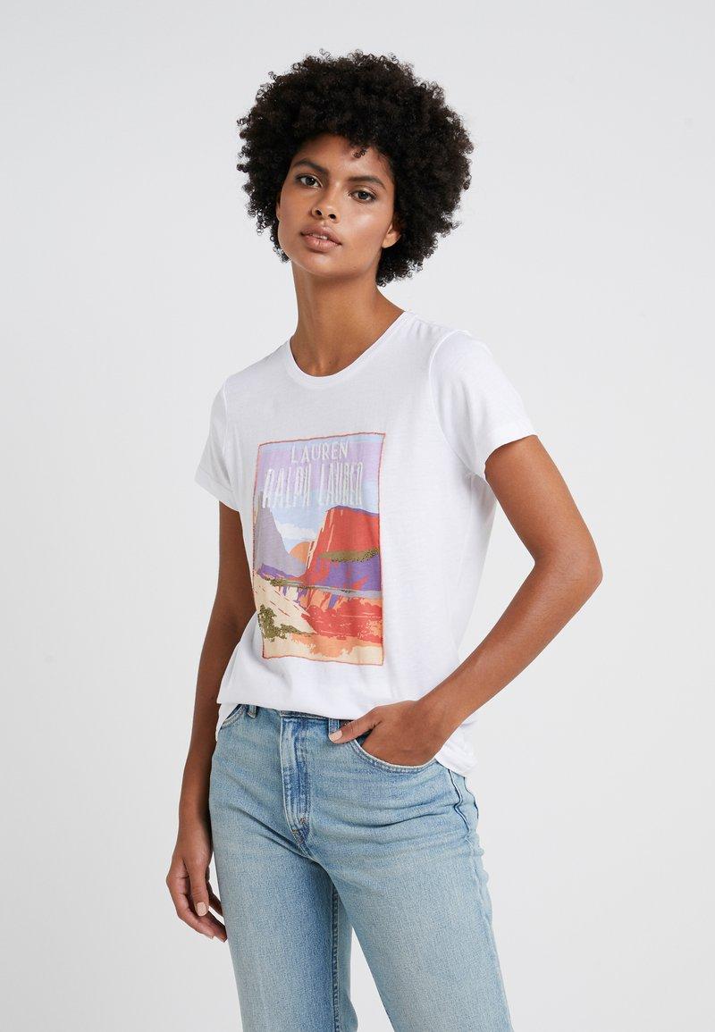 Lauren Ralph Lauren - UPTOWN GRAPHIC - T-shirts print - white