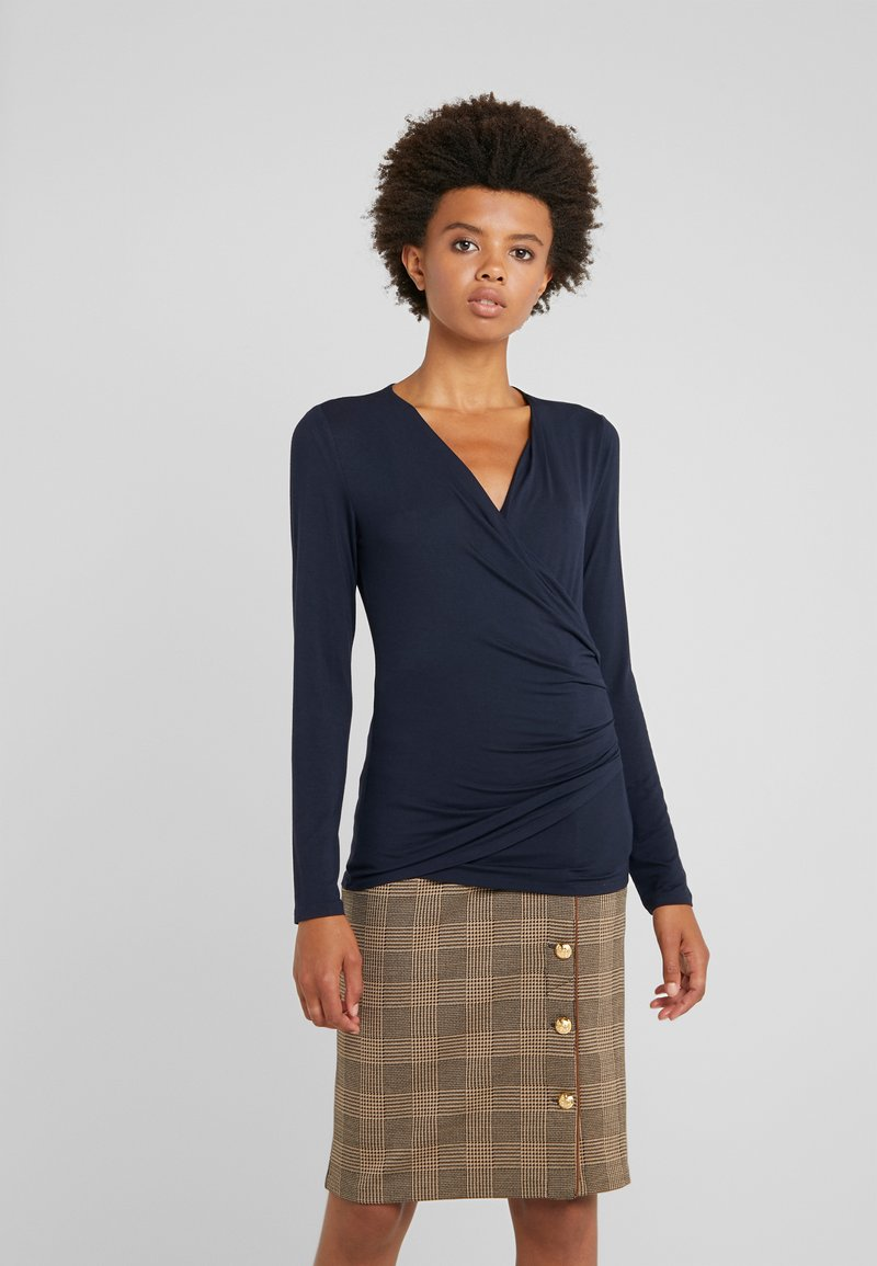 Lauren Ralph Lauren - CHIC VIS TOP - Langærmede T-shirts - navy