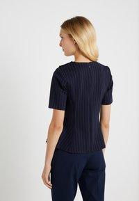 Lauren Ralph Lauren - PINSTRIPE PONTE - Print T-shirt - navy/masca - 2