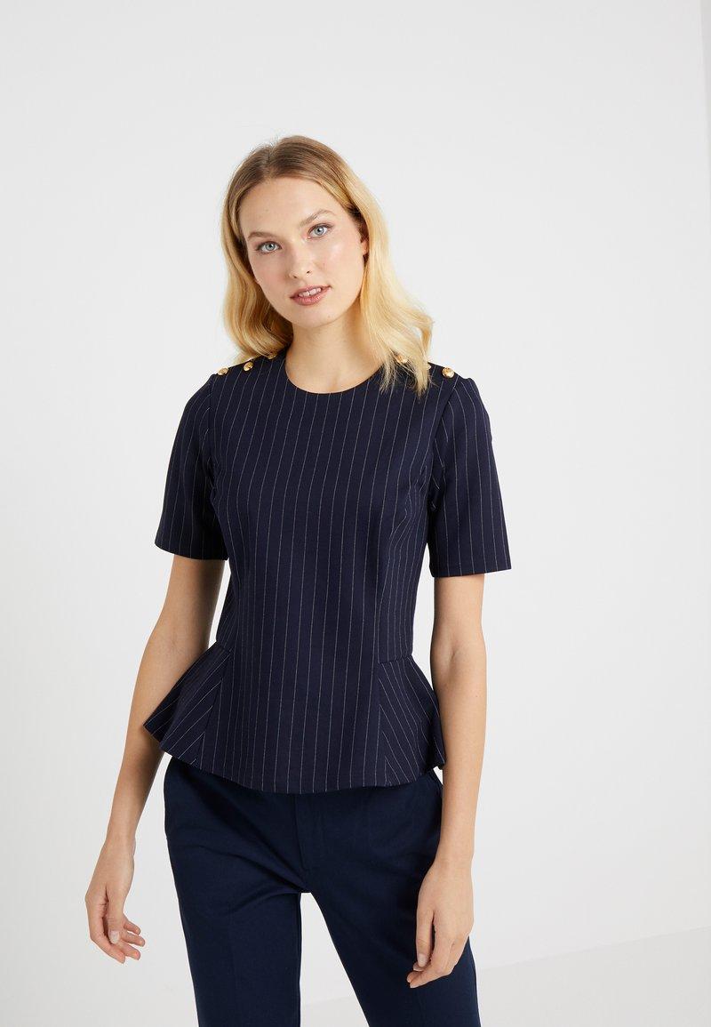 Lauren Ralph Lauren - PINSTRIPE PONTE - Print T-shirt - navy/masca