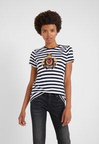 Lauren Ralph Lauren - UPTOWN  - Print T-shirt - lauren navy/white - 0