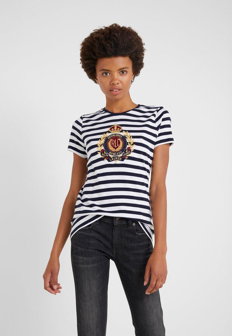Lauren Ralph Lauren - UPTOWN  - Print T-shirt - lauren navy/white