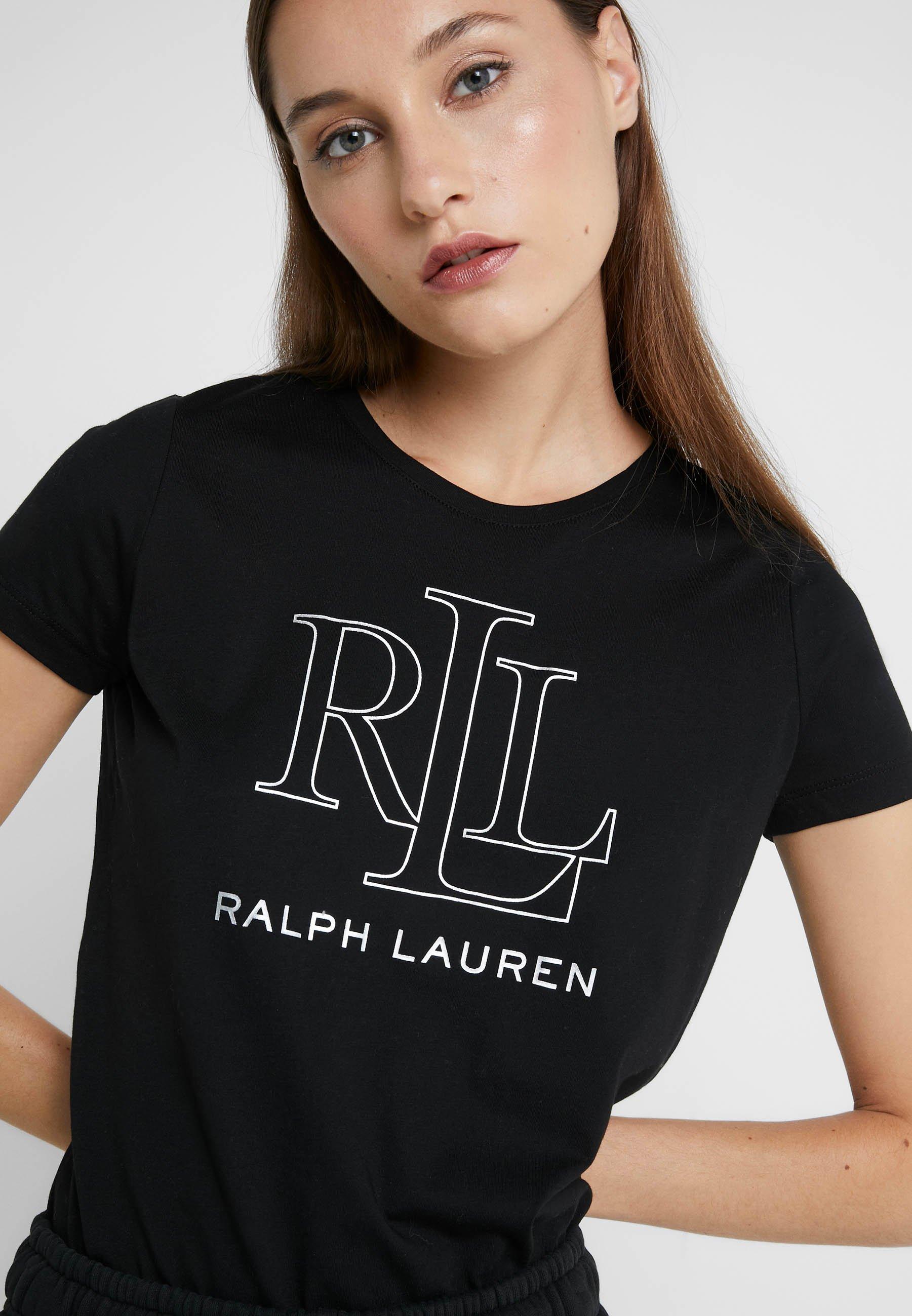 Lauren T shirt Ralph imprimé Lauren black F13cJT5luK