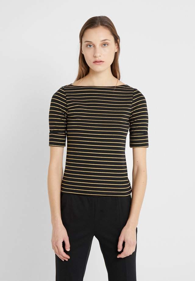 T-shirt print - polo black/gold