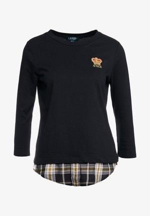 PLAIT TOP - Camiseta de manga larga - black