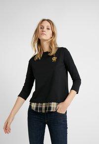 Lauren Ralph Lauren - PLAIT TOP - Camiseta de manga larga - black - 0