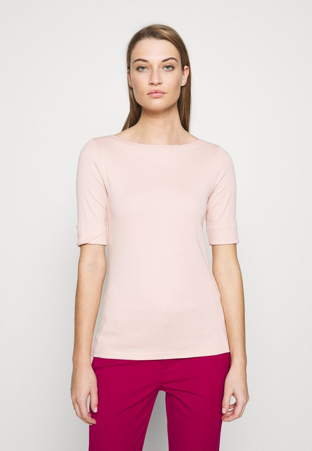 Långärmad tröja - pink hydrangea