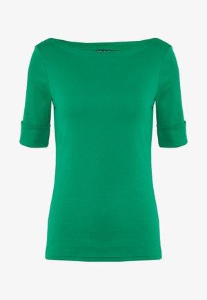 Jednoduché triko - hedge green