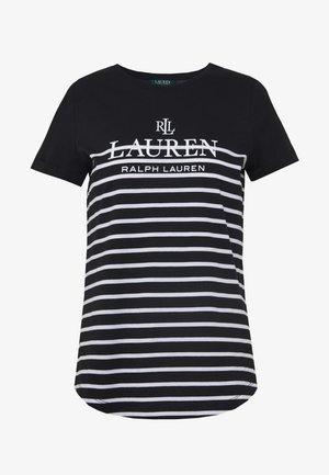 MICRO - Print T-shirt - black