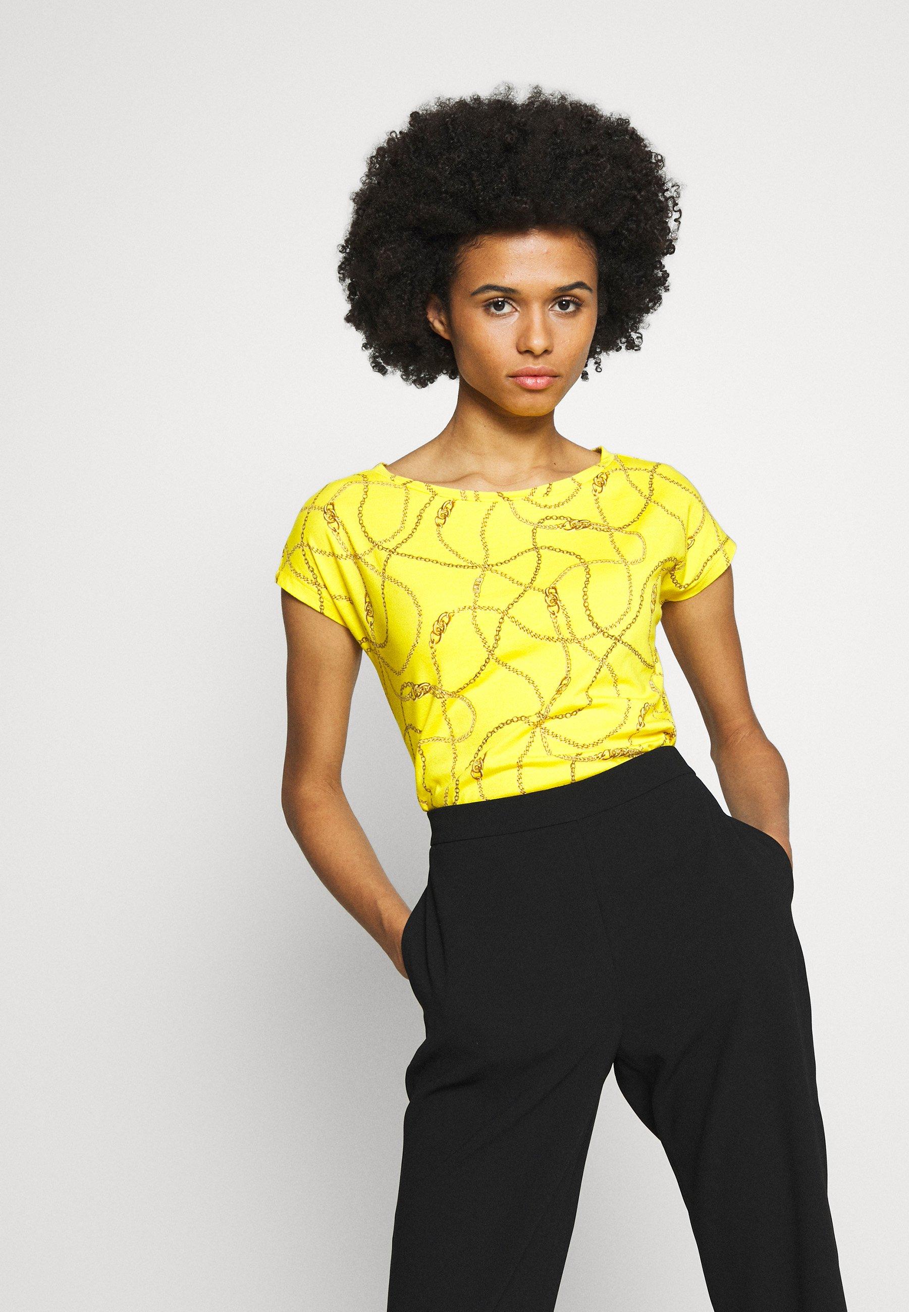 Lauren Ralph Lauren UPTOWN - T-shirt z nadrukiem - dandelion/multi
