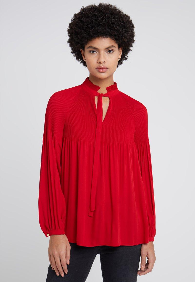 Lauren Ralph Lauren - DRAPEY - Bluse - lacquer red