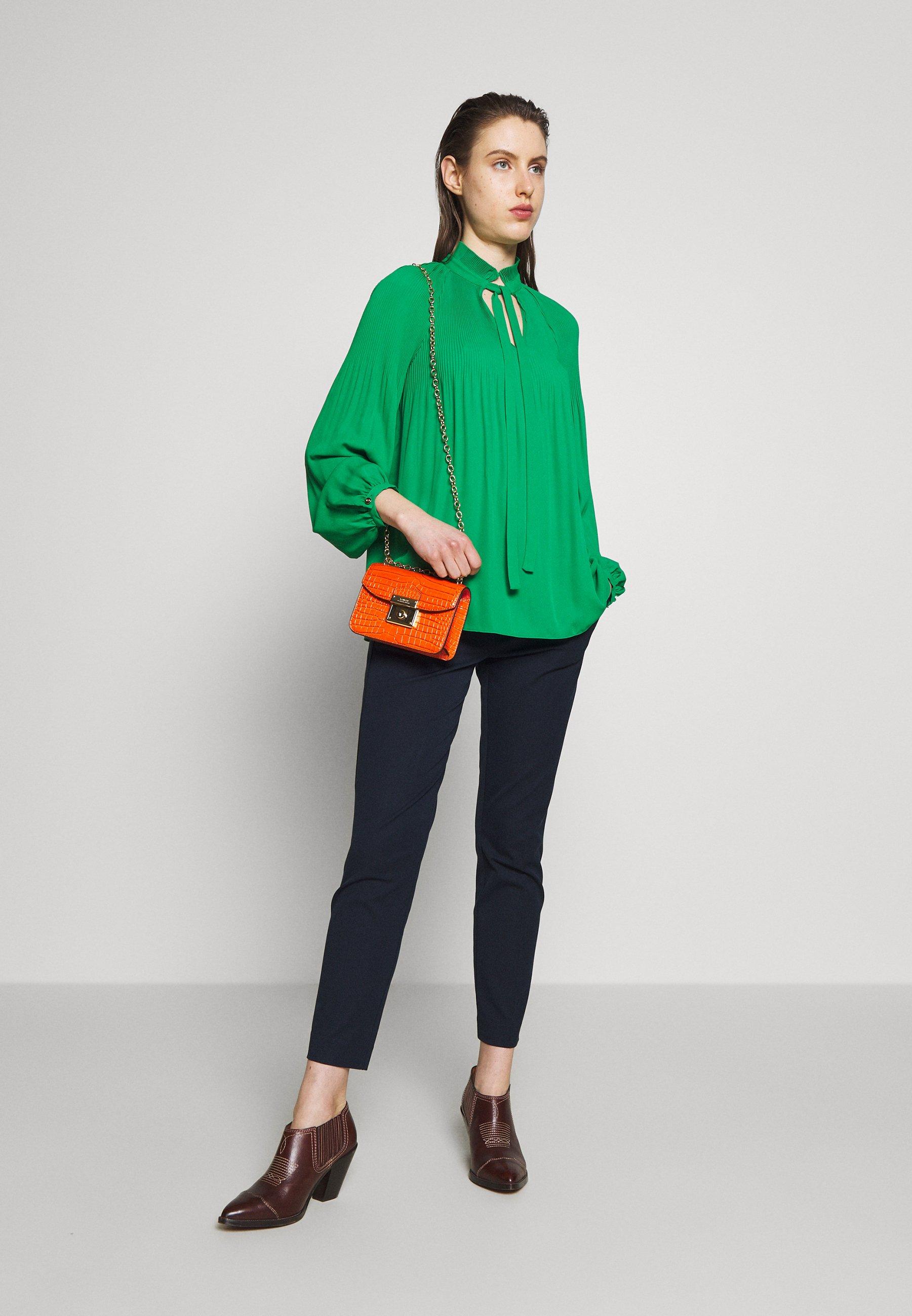 Lauren Ralph Lauren DRAPEY POLY - Bluzka - hedge green