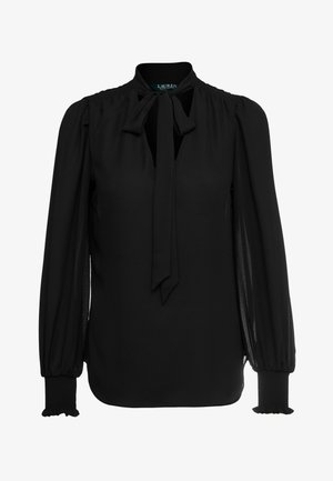 DRAPEY - Blusa - polo black