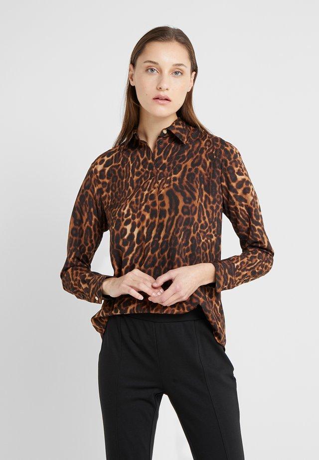 Button-down blouse - polo black multi