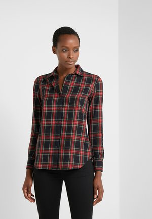 CLASSIC - Button-down blouse - red/black