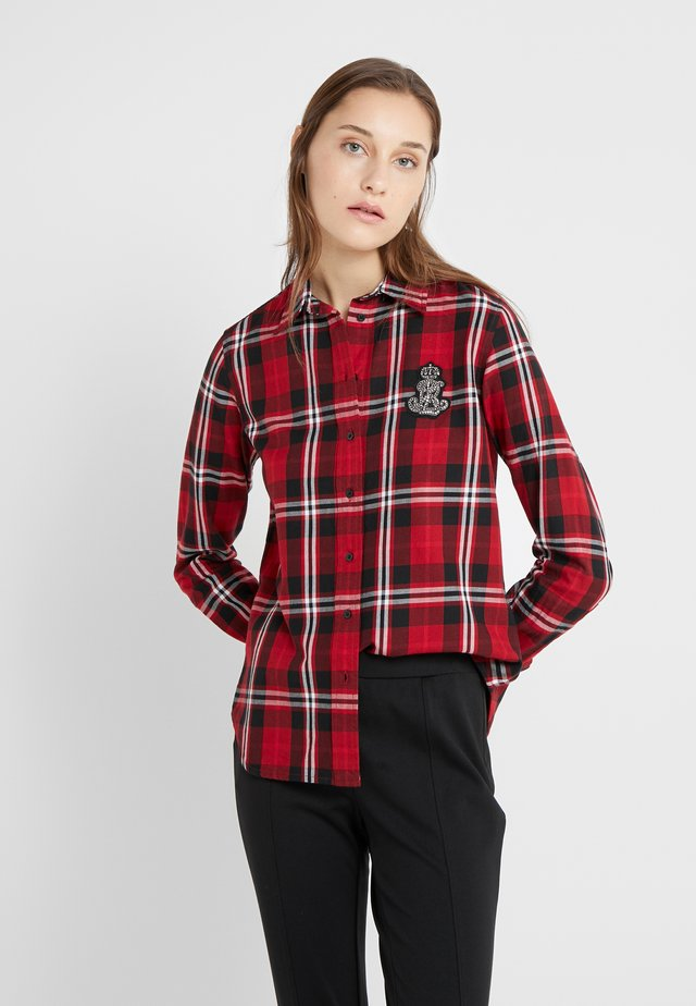 CLASSIC CREST - Button-down blouse - red/black