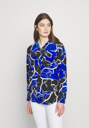 Button-down blouse - blue glacier mult