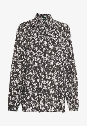 DRAPEY  - Blouse - black/white