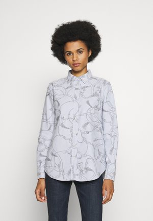 WASHED OXFORD - Camicia - silk white/grey