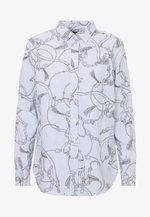 WASHED OXFORD - Skjorte - silk white/grey