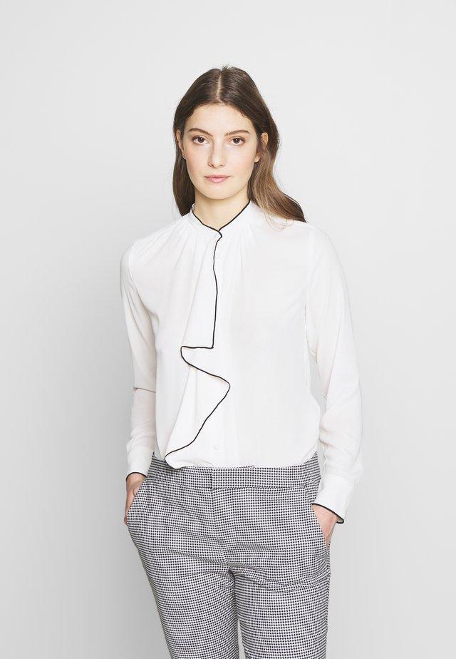 DRAPEY POLY - Button-down blouse - mascarpone cream