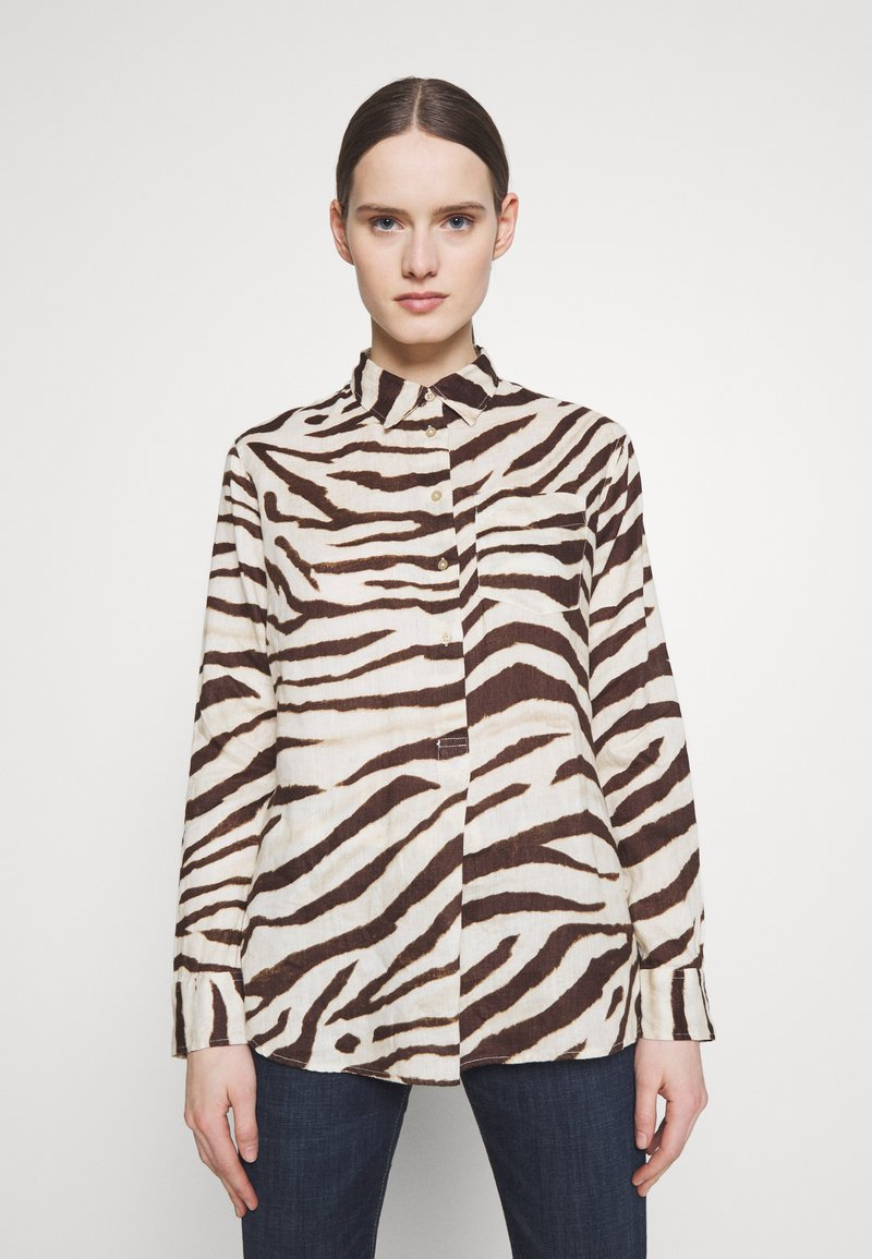 Lauren Ralph Lauren - Button-down blouse - brown/multi