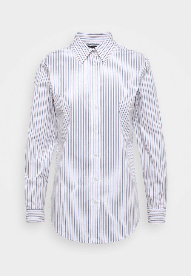 NON IRON SHIRT - Button-down blouse - white/blue
