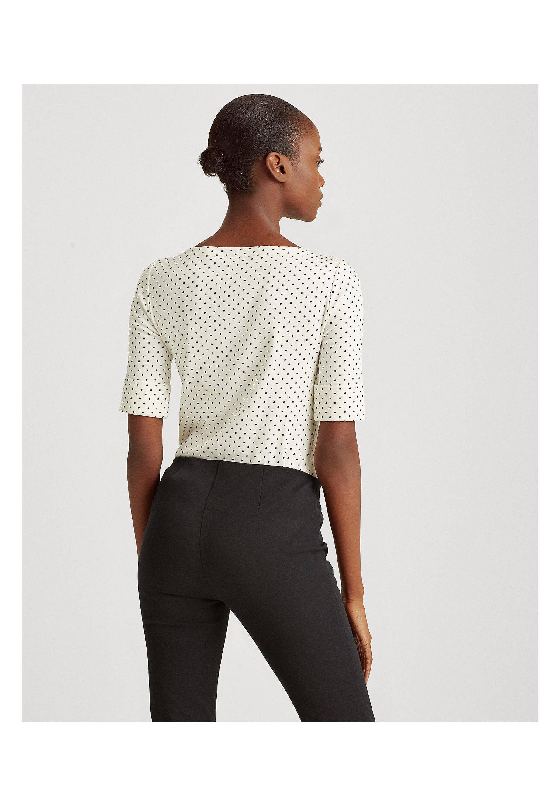 Lauren Ralph Damen Shirt Kurzarm - Blouse Off-white