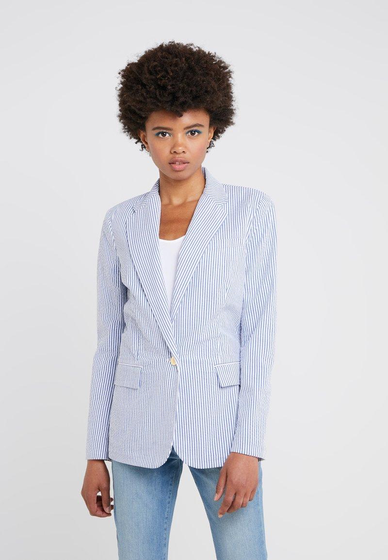 Lauren Ralph Lauren - SEERSUCKER - Blazer - blue/white