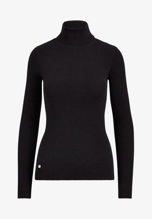 TURTLE NECK - Jersey de punto - polo black