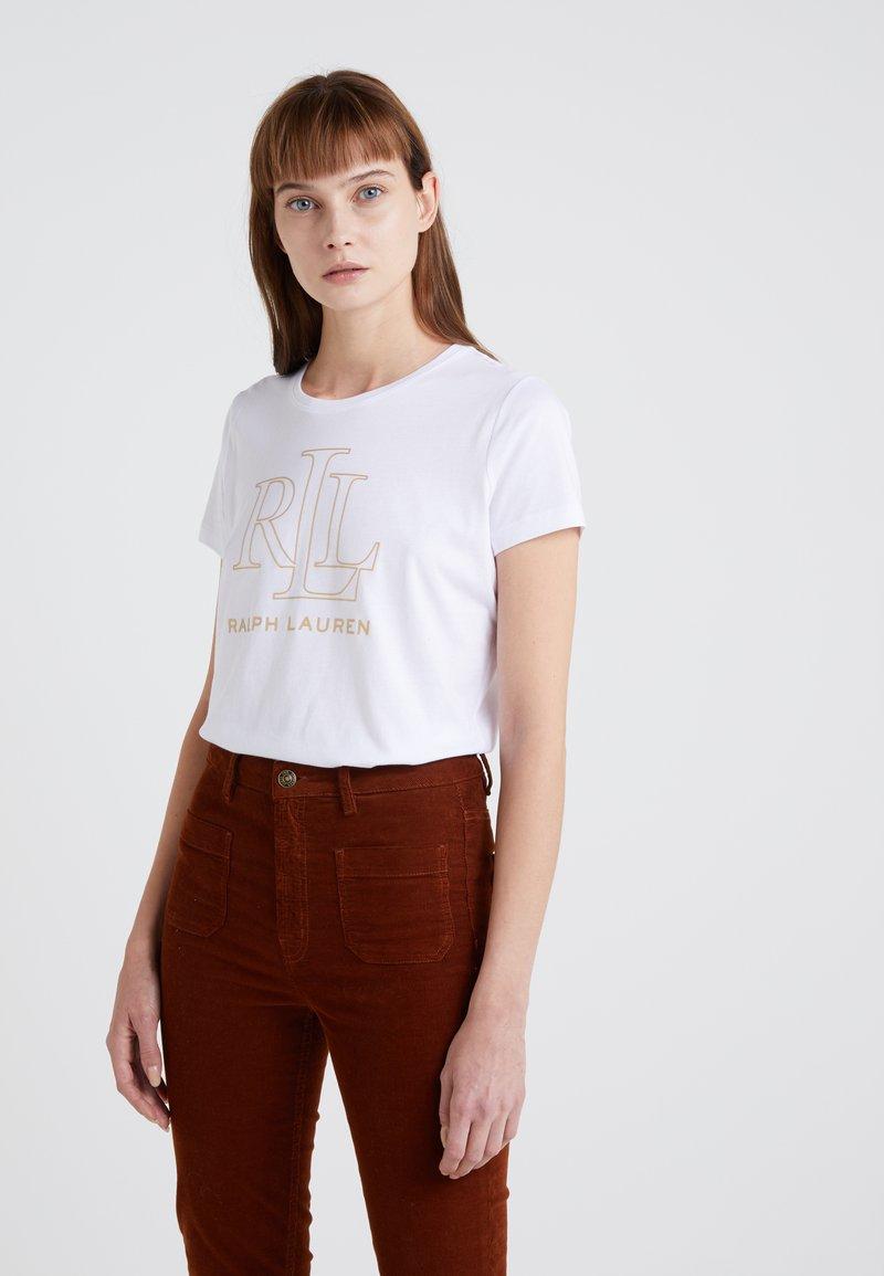 Lauren Ralph Lauren - PIMA MICRO FOIL LOGO - T-shirt imprimé - white