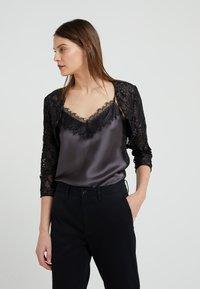 Lauren Ralph Lauren - TIYANA ELBOW SLEEVE  - Vest - black/silver - 0