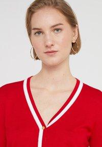 Lauren Ralph Lauren - THEA LONG SLEEVE SWEATER - Kardigan - lipstick red/white - 5