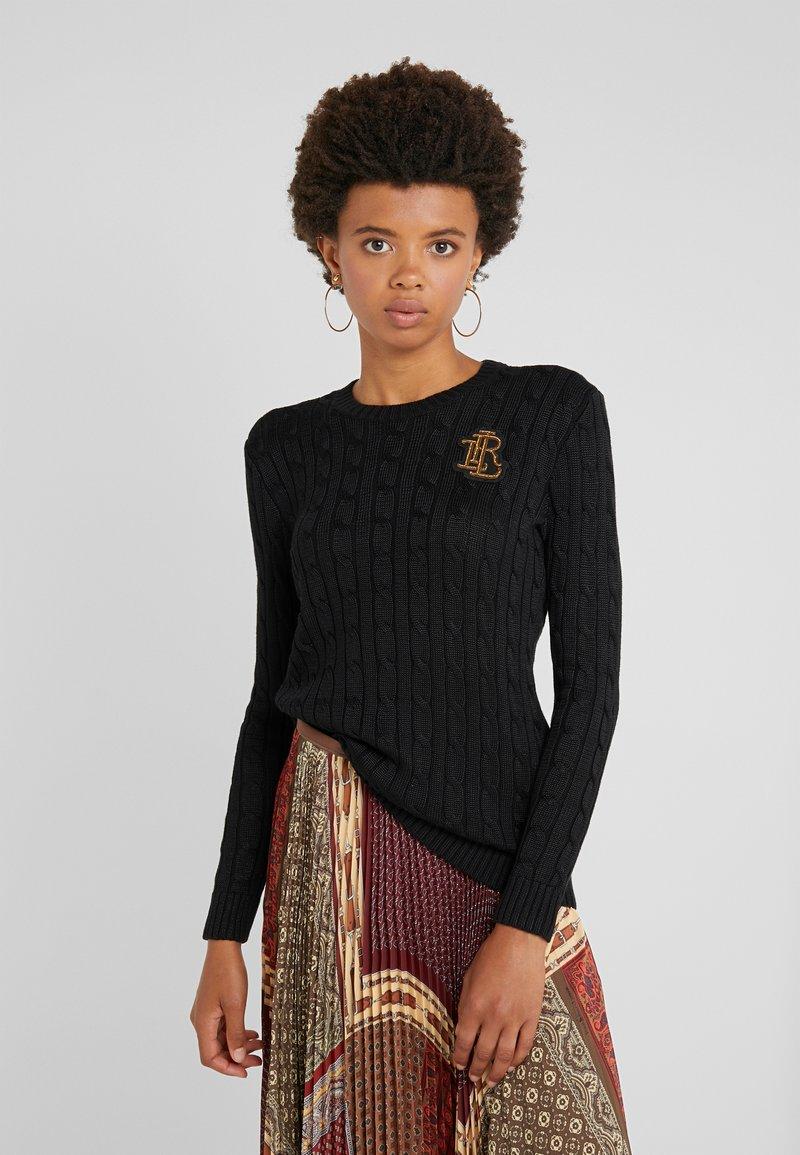Lauren Ralph Lauren - BRIGHT CREWNECK - Sweter - polo black