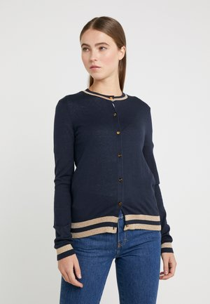 Cardigan - navy/gold