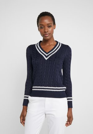 Sweter - navy/silver-coloured