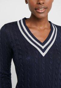 Lauren Ralph Lauren - Sweter - navy/silver-coloured - 5