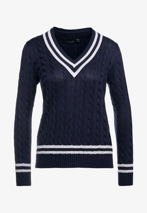 Pullover - navy/silver-coloured