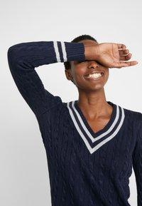 Lauren Ralph Lauren - Sweter - navy/silver-coloured - 3