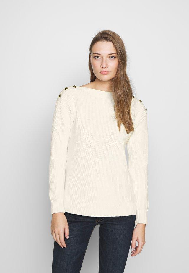 GASSED BOAT NECK - Jersey de punto - mascarpone cream