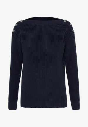GASSED BOAT NECK - Trui - navy