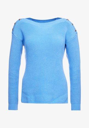GASSED BOAT NECK - Strickpullover - eos blue