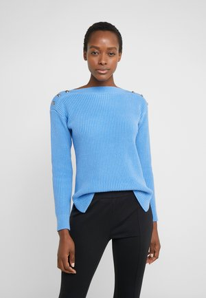 GASSED BOAT NECK - Sweter - eos blue